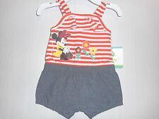 Disney Baby Minnie Mouse Ruffled Sleeveless Romper Newborn Girls NWT