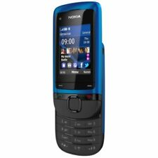 Nokia C2-05 Telefon Handy ohne Vertrag GSM Slider Cell Phone Mobiltelefon Blau