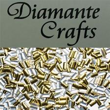 250 x 5 mm Oro Rettangolo Borchie in Metallo Loose Piatto Indietro Craft Abbellimento Gemme