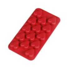 Newest Silicone Heart Shaped Ice Cube Tray Carving Mold Mould Party Bar Drink