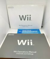 Nintendo Wii Instruction Operation Manuals with Guides For Quick Set Up