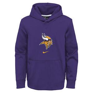 Nike NFL Football Youth Minnesota Vikings Circuit Logo Essential Pullover Hoodie