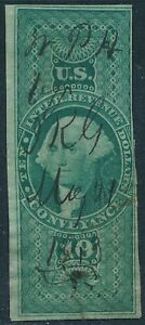 DR JIM STAMPS US SCOTT R94R $10 CONVEYANCE USED NO RESERVE