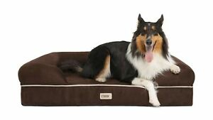 Friends Forever Orthopedic Dog Bed Lounge Sofa Removable Cover 100% Suede Mat...