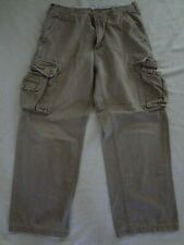 Aeropostale Cargo Pants 32x32 Baggy with Draw Strings 8 Pockets Brown