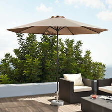 [casa.pro] Sombrilla Ø 300cm Aluminio Beige Manivela Paraguas de mercado Jardín