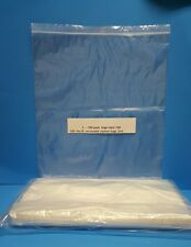 100 16 X 18 Clear 2Mil Plastic Seal Top Zip-Lock ZipLock Reclosable Poly Bags