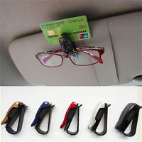 Fashion Car Vehicle Sun Visor Sunglasses Eye Glasses Card Pen Holder Clip Car HI