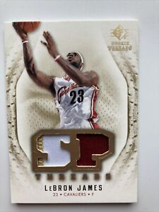 LeBron James 2008/09 SP Rookie Threads Game Used 3 Color Patch Relic Cavs 🔥