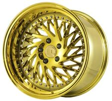 Aodhan DS03 18x9.5 +15 18x10.5 +22 5x114.3 Vacuum Gold Staggered (Set of 4)