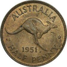 1951 PL Australia King George VI Half Penny Copper Coin