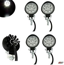 Set Of 4 Waterproof 27w 9 Led Spot Round Mini Work Lights Lamp Offroad Tractor