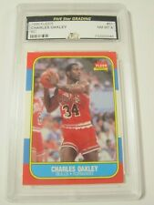 1986 Fleer #81 CHARLES OAKLEY Chicago Bulls Rookie Basketball Card RC NM-MT 8