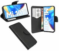 Book-Style Handy Hülle Etui Tasche Zubehör Cover Schwarz für Xiaomi Mi 10T Pro