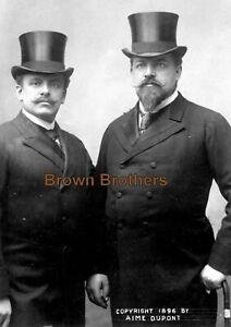 1890s Renowned Polish Opera Singers Edouard & Jean de Reszke Photo & Negative (2