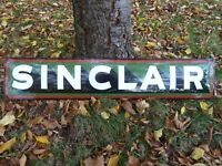 "SINCLAIR porcelain sign advertising vintage gasoline 39"" oil old gas USA dino"