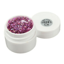 1 pot 36 Mix Color Glitter UV Gel Builder Nail Art Polish Tips Decorations 5ML