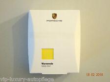 Neu Original Porsche Warnweste Signalfarbe Jacke Gelb Sicherheit Jacke Ausfälle