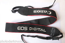 "Canon EOS Digital 1.5"" Black Classic Camera Strap 3/8"" Loop Blinder USED C162"