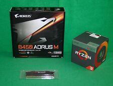 AMD Ryzen 3 2200G RX Vega Graphics & Gigabyte B450 Aorus M mATX MB & 8GB RAM KIT