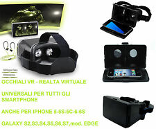 Occhiali VR realtà virtuale 3D Side by Side. Compatibile iphone 5-6-6s.S5,S6,S7