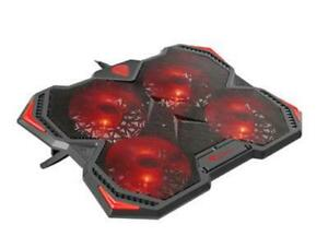 """Quiet Laptop Cooler 4 Powerful LED Fans Gaming Cooling Mat Pad Stand 12-17.3"""""""