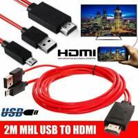 Handy für Samsung Android Micro USB zu HDMI MHL TV Kabel Adapter V9B7 Heiß