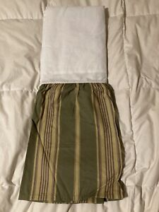 Chaps Brittany Striped Queen split-corner Bedskirt