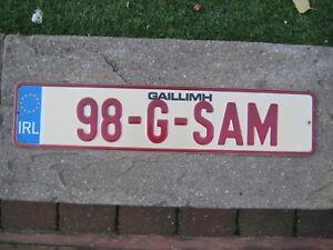 IRELAND GALWAY EUROSTARS 1998 # 98-G-SAM RARE SOUVENIR OR BOOSTERLICENCE PLATE
