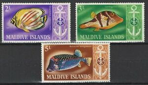 Malediven, 1967, postfr., Fische, MiNr 217-219
