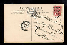 1906 Canton French Post Office in China Postcard Cover to USA Japanese Infantry