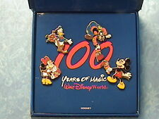 100 YEARS OF MAGIC 4 PIN BOX SET DISNEY WDW PINS,