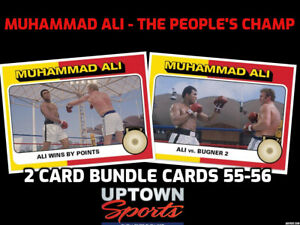 2021 Topps MUHAMMAD ALI  The People's Champ 2-Card Bundle Cards #55- 56 PRESALE