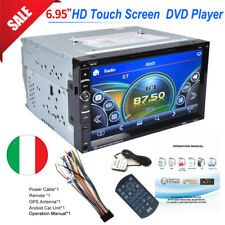 "2DIN 6.95"" GPS Autoradio Navigazione Car Stereo DVD Player Bluetooth TouchScreen"