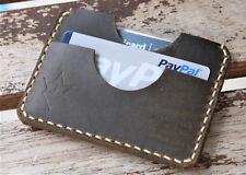 Handmade Leather PARVUS Wallet Shellshock Coyote W/ Money Band