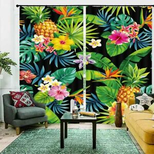 Beautiful Pineapple 3D Blockout Photo Print Curtain Fabric Curtains Window