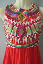 Orange maxi silk dress, size AUS 8-10, new