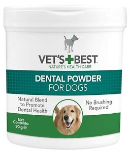 Vet's Best Natural Dental Powder for Dogs |Clean Teeth and Fresh Breath - 90 g