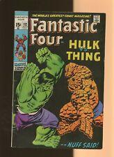 Fantastic Four 112 VG/FN 5.0 * 1 Book Lot * VS Hulk! Stan Lee & John Buscema!