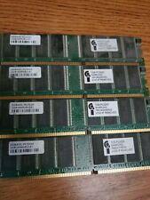 4 Sticks of 1GB DDR-400 PC-3200 NON-ECC Desktop PC Memory RAM