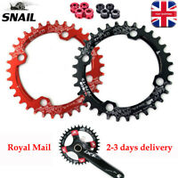 UK 104bcd 30T 32T 34T 36T 38T MTB Bike Chainring Round Oval Single Chain Ring