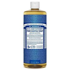 Dr Bronner Org Peppermint Castile Liquid Soap 946 ml