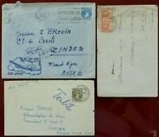 NIGERIA 3 LETTRES 1933-1953 COLONIE FRANÇAISE ZINDER FRENCH COLONY TIMBRE STAMPS