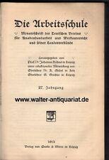 Die Arbeitsschule - Deutscher Verein für Knaben-Handarbeit...Werken Metall 1913.