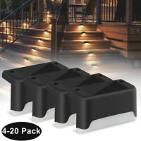 Outdoor Solar LED Deck Light Step Stairs Patio Fence Lamp Waterproof Path Garden