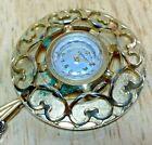 Vintage Vantage By Hamilton Lady Gold Tone Hand-Wind Necklace Pendant Watch Hour
