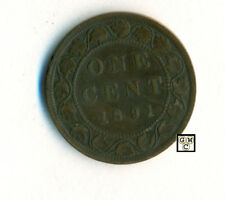 Canada 1891  One Cent Coin , SD  LL  Fine