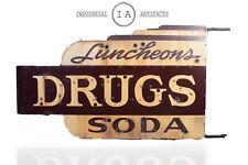 Antique Soda Fountain/Drug Store Sign