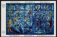 UNITED NATIONS, SCOTT # 179, MNH MINI SHEET OF STAINED GLASS BY MARC CHAGALL