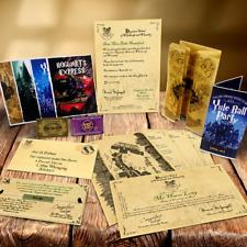 Personalised Harry Potter REAL Set! Customised + Marauders Map, Hogwarts Spells